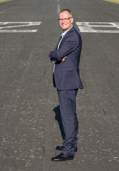 Referent und Pilot Heinz Leuters